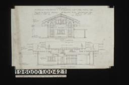 Garage -- west elevation\, north elevation : Sheet no. 4\,