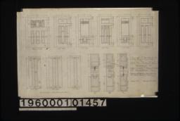 Door details\, 1 inch scale & F.S. :Sheet no. 9\,