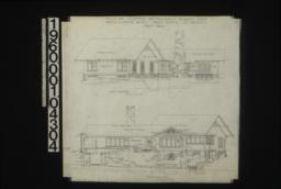 West elevation; east elevation : Sheet no. 3.