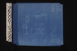"""Doors added in living room -- beam detail (see revised beam detail)\, section\, elevation\, elevation outside\, plan\, 3/4"""" detail of doors (two of these)\, full size details :Sheet no. 5."""