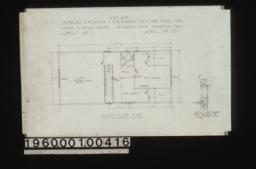 "Garage -- second floor plan, section thru windows over partitions ""A"" looking from north to south : Sheet no. 2,"