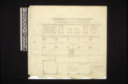 Rear elevation\, plan of rear : Sheet no. 2. (2)