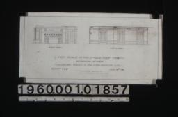 1/4 inch scale details of bedroom no. 8 -- east side\, south side :Sheet no. 8\, (2)