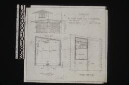Garage -- front elev\, first floor plan\, second floor plan : Sheet no. 1\,
