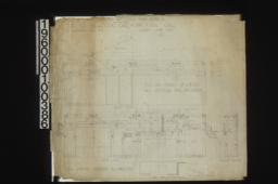 Inch scale and full size living room details -- east side\, west side\, part plan\, part plan of fireplace\, F. S. D. of shelf and brackets\, and of mantel\, plan of shelf : Sheet no. 51\,