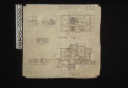 Second floor plan\, first floor plan; interior elevations -- hall-south end and west side\, living room-west side\, dining room-east side and west side :Sheet no.2\, (2)