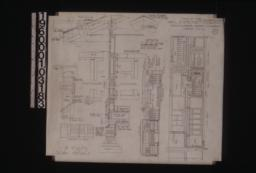 Details -- elevation of vents\, detail of vent in gable ends\, typical section through wall with exterior and interior elevations of window frame\, detail of shingle ridge\, detail of roof peak\, elevation of living room and patio\, elevation of living room and hall and dining room :Sheet no. 6. (2)