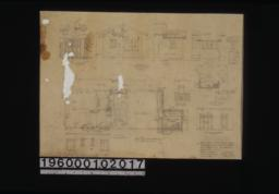Bedroom & screen porch changes -- section A-A\, section B-B\, front elevation and section of linen closet in hall; east and south elevations of bedroom wing; plan\, east and part of north elevation of screen porch; plan of bedroom wing; elevations of south side and east side of bedroom 1; elevation of south side bath 1 (bath 2 similar) :Sheet no. 1.
