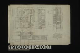 Second floor plan ; section thro' C-D ; section thro' A-B ; north elevation : No. 3.