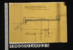 Revised drawing of part of sheet no. 1 i.e. Foundation plan showing figures for new position of wall.