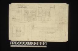 "Bathroom details -- elevations of north side\, west side and east side of northwest bath; full size details showing plan of corner ""X"" in northwest bath\, and section ""A-A"" in west bath : Sheet no. 9."