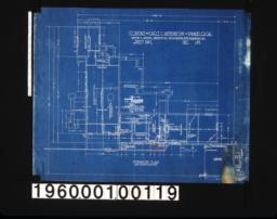 Foundation plan; 3/4 inch scale section of foundation wall on A-A; 3/4 inch sectǹ of garage footing :Sheet no.1\,