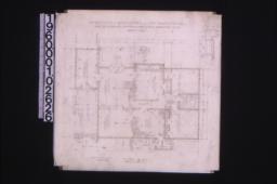 """Main floor plan; 1 1/2"""" detail of corner of bay :Sheet no. 2."""