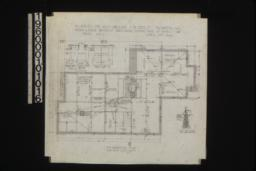 Foundation plan ; detail drawings -- girder post footings, kitchen chimney footing, chimney footing, 1/2 inch scale section thro' wall footings :Sheet no. 2,