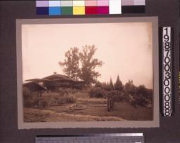 Garden and north elevation.