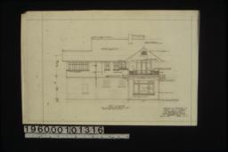 West elevation : Sheet no. 3. (3)