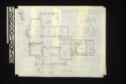 First floor plan\, detail thro' bay window\, stair details :Sheet No. 2\, (2)