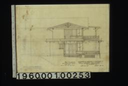 West elevation : Sheet no. 4.