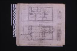 """Second floor plan ; first floor plan ; detail at """"X"""" ; elevations of west side of living room and north end of living room :2."""