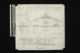 Keeper's house -- west elevation ; north elevation ; inch scale detail of flower box -- section, front elevation : Sheet no. 3,