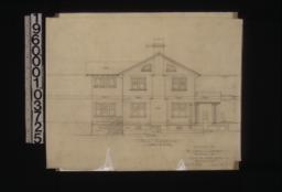 West elevation : Sheet no. 7.