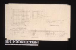 Details of reinforced concrete slab -- part plan\, section elevation of beam : Sheet no. 22.