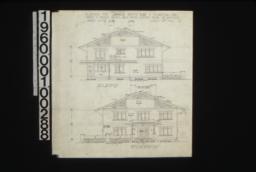 West elevation, front elevation (east) :Sheet no. 4,