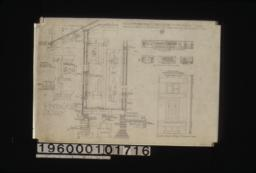 Elevation of west side of living rm. hall and bedrm.; 1/8 in. scale details of dining room -- east side\, south side\, west side; 1 1/2 inch scale details -- sections through walls with exterior and interior elevations of windows\, shingled ridge roll\, batten door :No. 2.