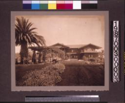 View from garden to rear elevation of main residence. (2)