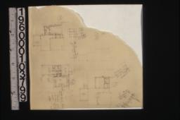 Sketches of partial floor plans labelled 1\,2\,3.