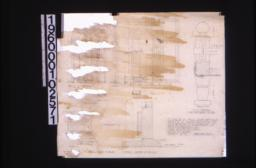 """1"""" scale & full size details -- section and partial elevation of east side\, part elevation of north side\, half plan of flower box\, F.S. detail of flower box\, plan of A-A\, full size details at A-A and B-B :Sheet no. 2."""