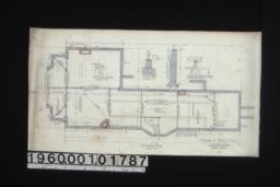 """Foundation plan; section A-B; section C-D; detail ... showing brick footings for 8"""" and 12"""" brick piers :1."""