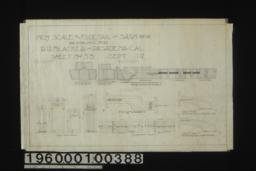 Inch scale and F. S. details of sashes : Sheet no. 53\,