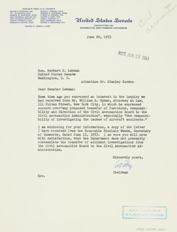 letter 1953 june 20