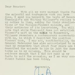 Letter: 1951 September 26
