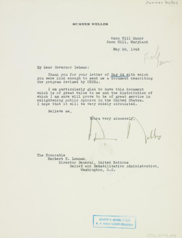letter 1945 may 28