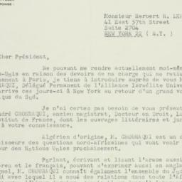 Letter: 1952 October 17