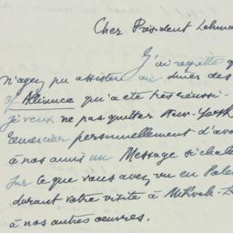 Letter: 1949 June 19