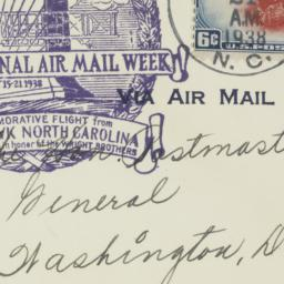 Envelope: 1938 May 21
