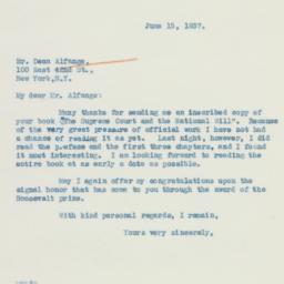 Letter: 1937 June 15