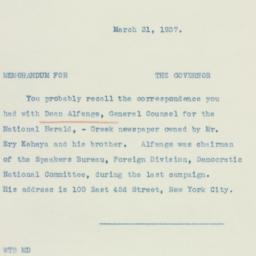 Letter: 1937 March 31