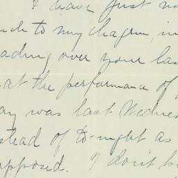 Letter: 1908 March 4