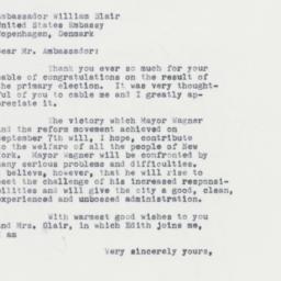Letter: 1961 September 19