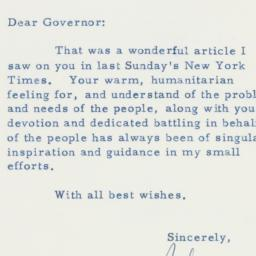 Letter: 1958 March 22