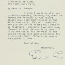 Letter: 1948 January 26