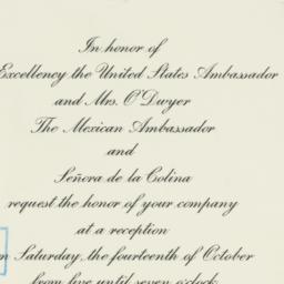 Invitation: 1950 October 6