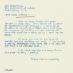 Letter: 1933 July 13