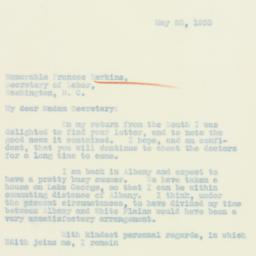 Letter: 1933 May 23