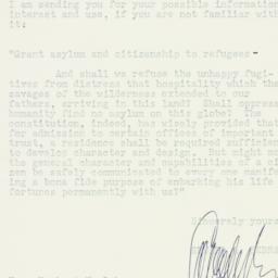 Letter: 1948 November 8