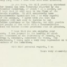 Letter: 1950 July 12